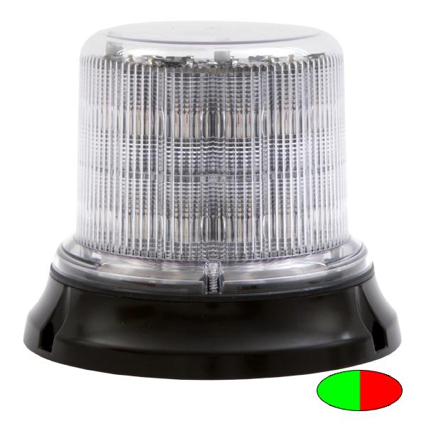 IMPACT DR, 10-30VDC, Sonderfarbe grün/rot, klare Haube, 12+12 LEDs, 3-Lochbefestigung