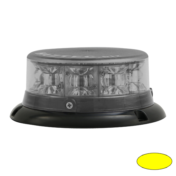 IMPACT ELP, 10-30VDC, Warnfarbe gelb, Haubenfarbe klar, 3-Lochbefestigung
