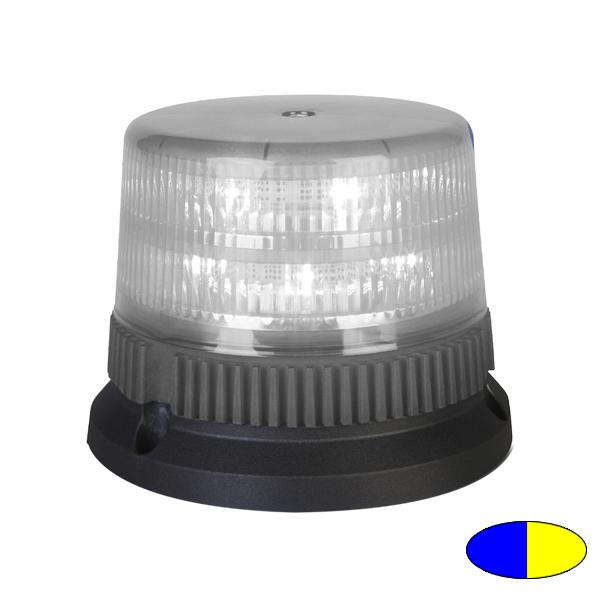 FLEX TWICE 6+6 T2, 12VDC, Warnfarben blau/gelb, 3-Lochbefestigung