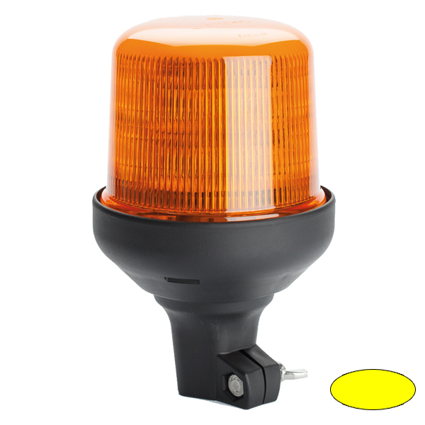 SERIE 515 LED-Kennleuchte, 10-30VDC, Warn-u.Haubenfarbe gelb, DIN-A Stecksockel