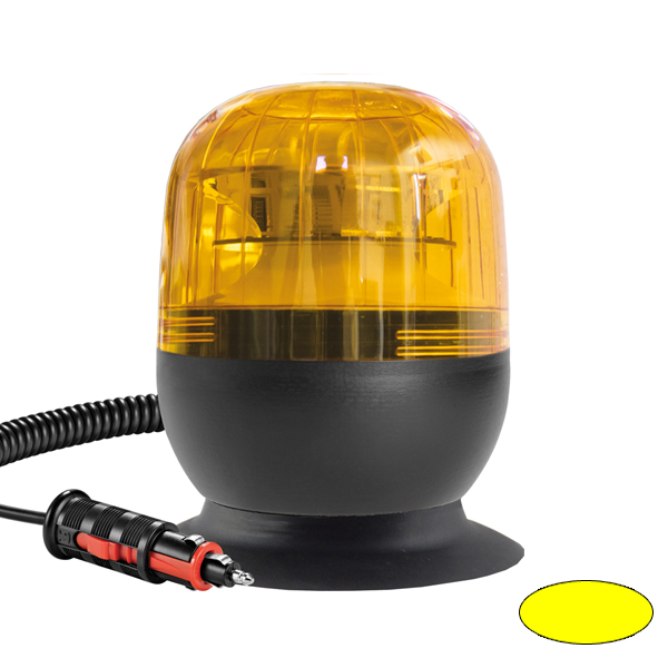 EUROROT-LED MV, 10-30VDC, Warn-u.Haubenfarbe gelb, Magnethalterung