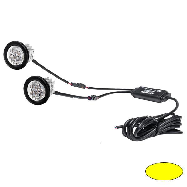 "BL88-E ""BULLS EYE TWIN"", 10-30VDC, Warnfarbe gelb, 2 LED-Köpfe mit gemeinsamer Steuerelektronik"