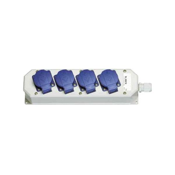 4-fach Schuko-Steckdosenleiste, 230VAC/16A, IP54