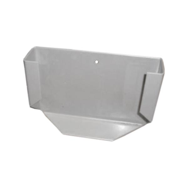Halterung für Meldertasche, Aluminium, grau pulverbeschichtet