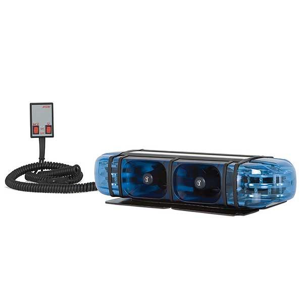 PICCOLINO, 12VDC, Warnfarbe blau, 2 S9 LED-Module, alle Einsatztöne Österreich, Magnethalterung